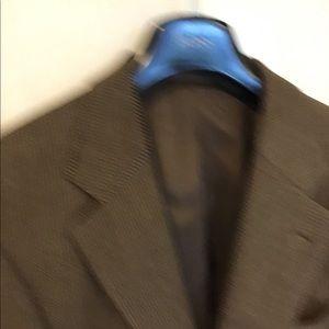 Hugo Boss Blazer, 40S, Brown and Gold Check
